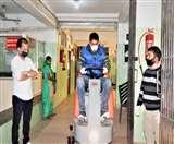 विधायक राकेश पठानिया ने नूरपुर अस्पताल को सौंपी सैनिटाइजिंग मशीन, ऑटोमेटिक सफाई मशीन का भी किया शुभारंभ