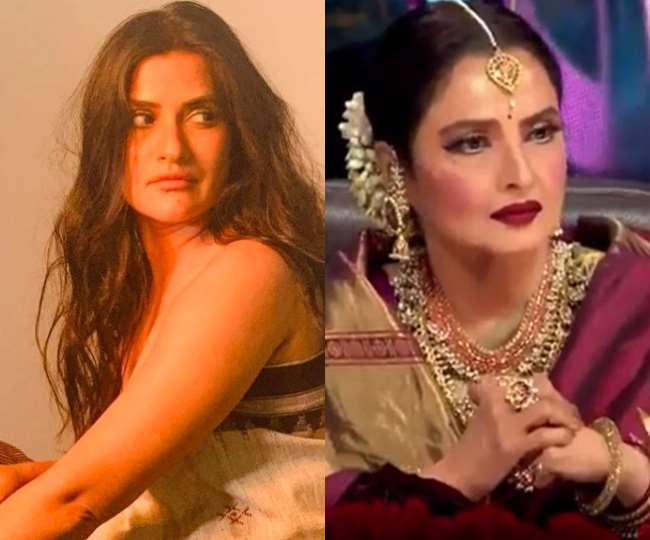 बॉलीवुड गायिका सोना महापात्रा और अभिनेत्री रेखा, Instagram : sonamohapatra/sonytvofficial