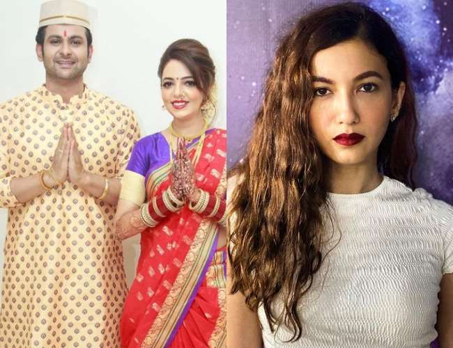 Sugandha Mishra with Sanket Bhosale and Gauahar Khan. Photo- Instagram