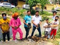 पार्षद ने चलाया पौधरोपण अभियान