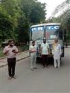 जिले से 627 मजदूरों को बसों से उनके मूल राज्य को भेजा