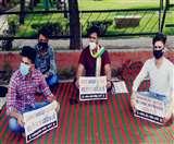 जानवरों के दाह गृह प्लांट के विरोध में युवा कांग्रेस सड़क पर