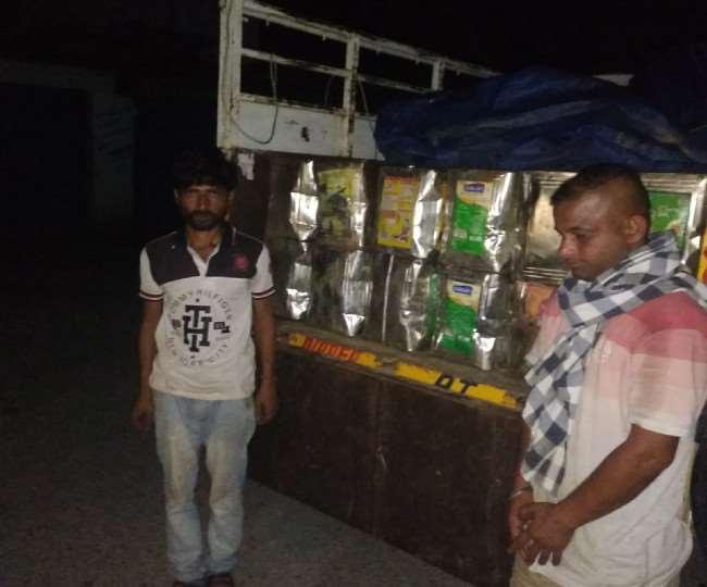 दो वाहनों में 216 टीन विरोजा ले जा रहे तीन लोग गिरफ्तार