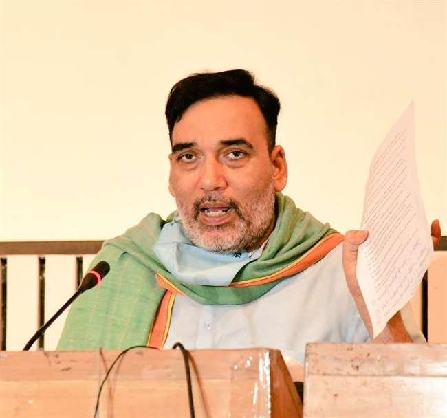 दिल्ली में पर्यावरण मंत्री गोपाल राय की बुधवार को प्रेस काफ्रेंस हुई।