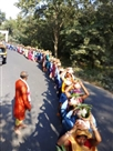 कर्णपुर में भागवत कथा को लेकर निकाली कलशयात्रा