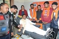 शौर्य दिवस पर बजरंग दल ने लगाया रक्तदान शिविर