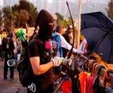 हांगकांग: प्रदर्शनकारियों ने आतंकी घटनाओं में प्रयुक्त होने वाले विस्फोटक का इस्तेमाल किया