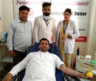 मरीज के लिए किया रक्तदान