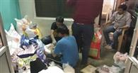 हरिराम के घर पहुंचाया भोजन, एराज को भेजी शुगर की गोली