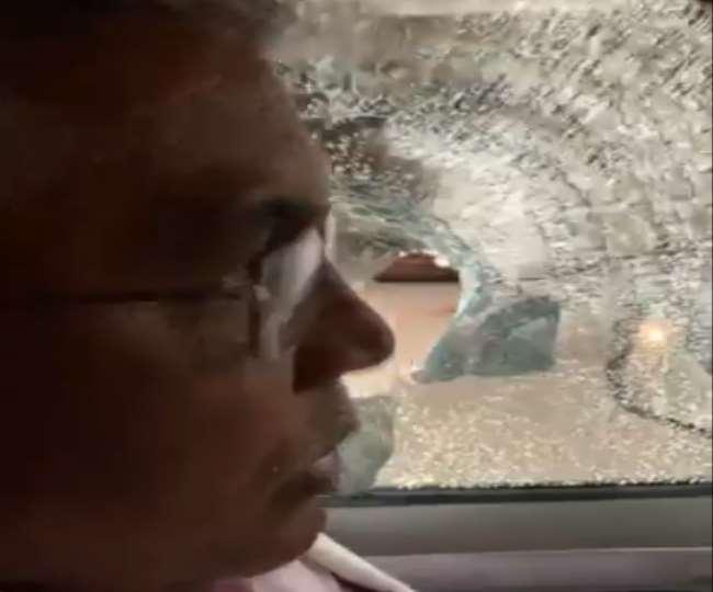 भारतीय जनता पार्टी के प्रदेश अध्यक्ष दिलीप घोष के काफिले पर हमले की खबर