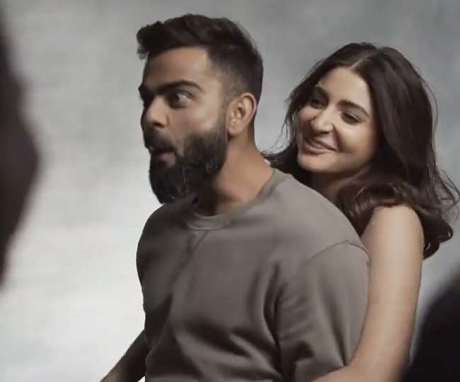 Anushka Sharma lifts Husband Virat Kohli off the ground surprised Virat reacts 'Oh Teri' in surprise. Watch Video