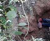 रामगढ़ में युवक की पत्थर से कूचकर हत्या, नाले में मिला शव Ramgrah News