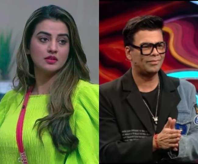 भोजपुरी अभिनेत्री अक्षरा सिंह और करण जौहर, तस्वीर- Instagram: singhakshara/voot