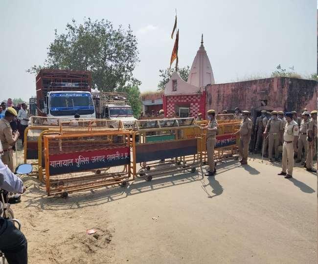 पानीपत में हरिद्वार रोड को सील किया गया।
