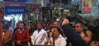 हैदराबाद की घटना पर कैंडल जलाकर शोक जताया