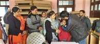 74 दिव्यांग बच्चों को सहायता सामग्री बांटी