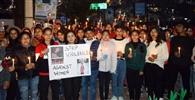 उन्नाव कांड को लेकर छात्राओं ने निकाली कैंडल मार्च