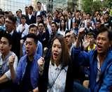 हांगकांग में लोकतंत्र समर्थकों की जनसभा आज, आंदोलनकारियों पर पुलिस की सॉफ्ट रणनीति