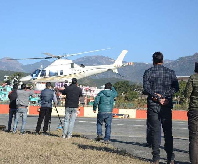 Image result for Heli service starts from Doon's Sahastradhara to Gauchar, Chinyalisaur in Uttarakhand