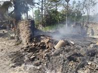 मड़वन में भीषण अगलगी, सौ से अधिक घर जले