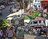 Lockdown in Lucknow : अफवाहों से बाजारों में उमड़ी खरीदारों की भीड़, तस्वीरों में देखें शहर का हाल