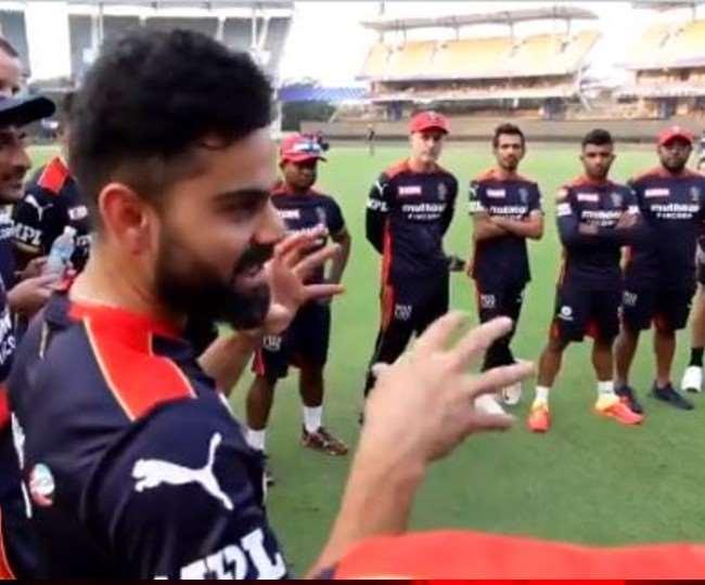 रॉयल चैलेंजर्स बेंगलुरु के कप्तान विराट कोहली- फोटो RCB ट्विटर वीडियो