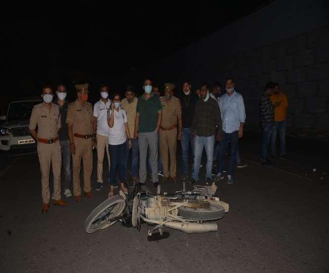 राजधानी लखनऊ में सोमवार देर रात पुलिस और बदमाशों के बीच मुठभेड़ में नौ गिरफ्तार।
