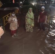 बारिश ने खोली मोहाली निगम की पोल, जीरकपुर में घंटों जाम