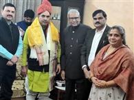 वर्ल्ड ब्राह्मण फेडरेशन ने किया परिवहन मंत्री का अभिनंदन
