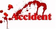 बस की टक्कर में युवक घायल
