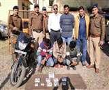 पुलिस के हत्थे चढ़े चोरी के तीन आरोपित, सामान भी बरामद