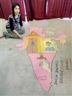 घर बैठे पेंटिग व रंगोली के जरिए कर रहीं जागरूक