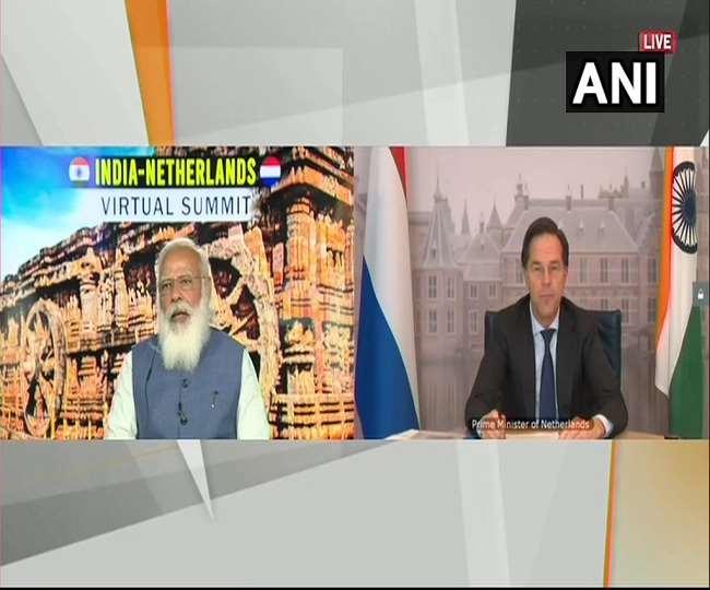 पीएम मोदी और नीदरलैंड के प्रधानमंत्री ने कई मुद्दों पर की चर्चा