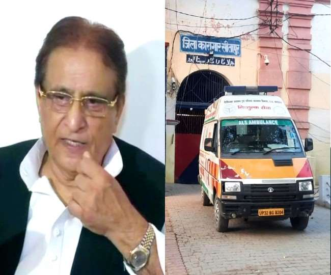 Coronavirus infected Samajwadi Party MP Azam Khan health deteriorated,  shifted to Lucknow Medanta Hospital with son Abdullah from Sitapur Jail