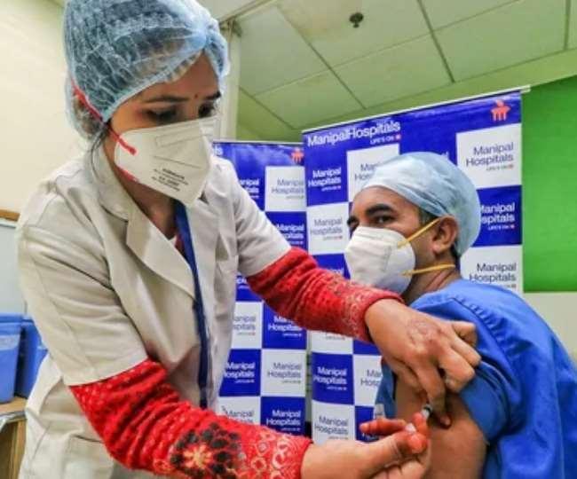 मध्य प्रदेश के चिकित्सा शिक्षा मंत्री विश्वास सारंग ने भोपाल में दुकानदारों के लिए स्पेशल वैक्सीनेशन कैंप की शुरुआत की।