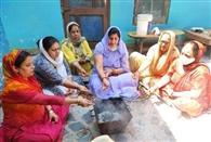 हवन यज्ञ के साथ भाजपा के गायत्री पाठ का समापन