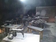 रेडीमेड कारखाना में शार्ट सर्किट से लगी आग