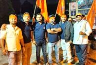 बजरंगियों ने शोभायात्रा निकाल मनाया शौर्य दिवस