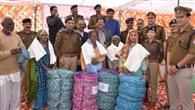 पुलिस की रजाई से 700 गरीबों की ठंड दूर
