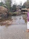 रजवाहे की पटरी टूटने से गांव की बस्ती में घुसा पानी