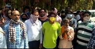 राशन नहीं मिलने पर श्रमिकों ने जताया रोष