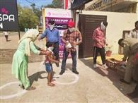 आरएसपुरा में 950 जरूरतमंदों को बांटा राशन