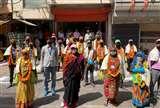 Lockdown में कोरोना के योद्धाओं का महापौर ने किया सम्मान, पार्षदों ने हौसला आफजाई की Prayagraj News