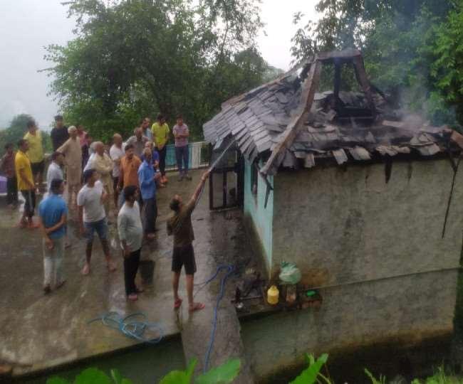 जोगेंद्रनगर के भडियाडा में सिलेंडर से गैस के रिसाव के कारण रसाेईघर में भड़की आग, व्यक्ति झुलसा
