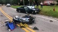 कार की ठोकर से बाइक सवार घायल