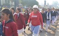 नशा मुक्ति को छात्राओं ने निकाली जागरूकता रैली