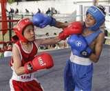 बॉक्सिंग प्रतियोगिता के बालिका वर्ग में गुंजन, कृतिका व शिवानी खिताबी दौर में