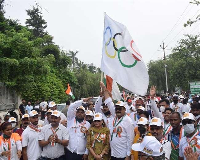 कानपुर ओलंपिक एसोसिएशन का मोतीझील में कार्यक्रम।