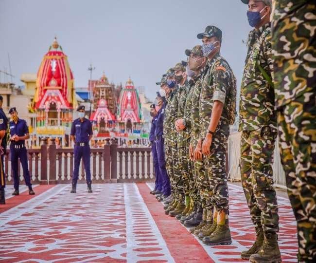 भक्तों के बिना निकलेगी भगवान जगन्नाथ की रथयात्रा, अभेद्य सुरक्षा। फाइल फोटो