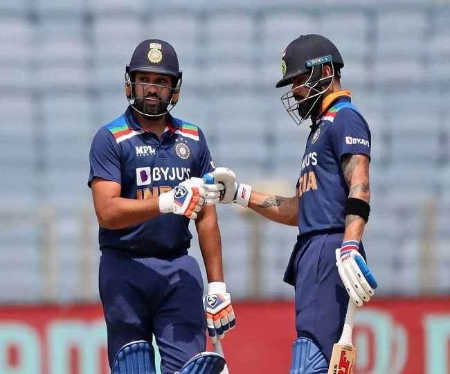टीम इंडिया के बल्लेबाज कोहली व रोहित शर्मा (एपी फोटो)